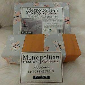 Metropolitan Bamboo King Butterfly Sheet Set